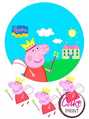 Съедобная картинка «Свинка Пеппа» №001
