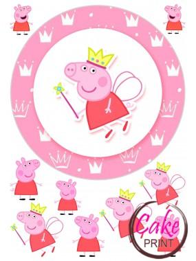 Пищевая картинка «Свинка Пеппа» №003