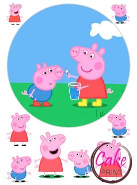 Вафельная картинка «Свинка Пеппа» №004