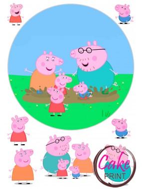 Сахарная картинка «Свинка Пеппа» №005