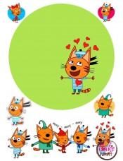 Вафельная картинка «Три Кота» №004