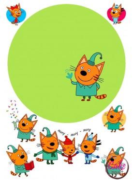 Сахарная картинка «Три Кота» №005