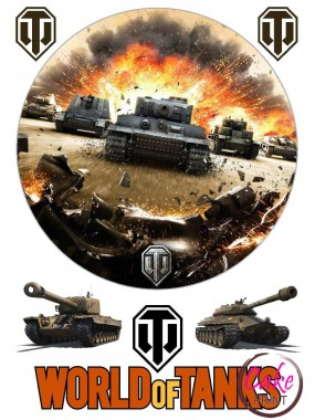 "Съедобная картинка - Танки | ""World of Tanks"" №001"