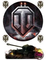 "Картинка на торт - Танки | ""World of Tanks""  №002"