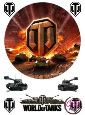 "Вафельная картинка - Танки | ""World of Tanks"" №004"