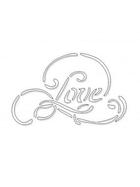 "Трафарет Print Cake для нанесения декора - ""Love"" №006 9 см"