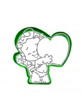 """Набор формочка с трафаретом Print Cake для вырубки печенья - """"Ангелочек с сердечком"""" №011 10 см"""