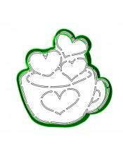 """Набор формочка с трафаретом Print Cake для вырубки печенья - """"Любовный напиток"""" №016 10 см"""