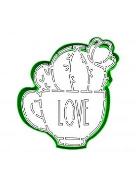 """Набор формочка с трафаретом Print Cake для вырубки печенья - """"Чашечка Love"""" №018 10 см"""