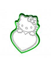 """Набор формочка с трафаретом Print Cake для вырубки печенья - """"Китти с сердечком"""" №007 11 см"""