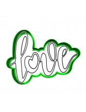 """Набор формочка с трафаретом Print Cake для вырубки печенья - """"Love"""" №020 10 см"""