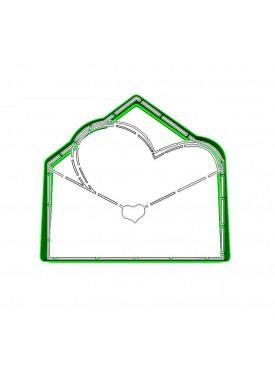 """Набор формочка с трафаретом Print Cake для вырубки печенья - """"Письмо, Люблю..."""" №009 10 см"""