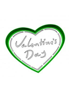 """Набор формочка с трафаретом Print Cake для вырубки печенья -  """"Сердечко Valentine`s Dey"""" №001 11 см"""
