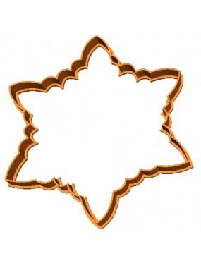 "Вырубка для пряников + трафарет Print Cake - ""Снежинка"" №002 12х10 см"