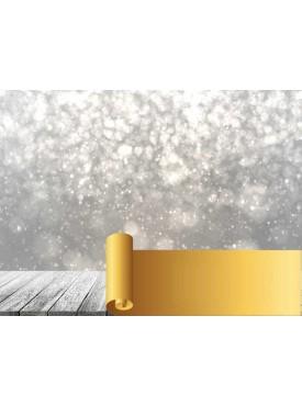 """Фотофон виниловый Print Cake - """"Новогодний 3D"""" №009 60х80 см"""