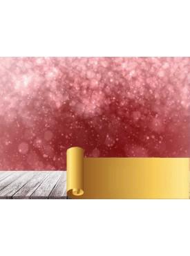 """Фотофон виниловый Print Cake - """"Новогодний 3D"""" №010 60х80 см"""