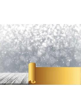 """Фотофон виниловый Print Cake - """"Новогодний 3D"""" №012 60х80 см"""