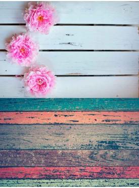 """Фотофон двойной виниловый, Print Cake - """"Доска с цветами"""" №002 60х80 см"""
