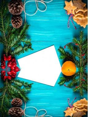 """Фотофон двойной виниловый, Print Cake - """"Новый год"""" №004 60х80 см"""