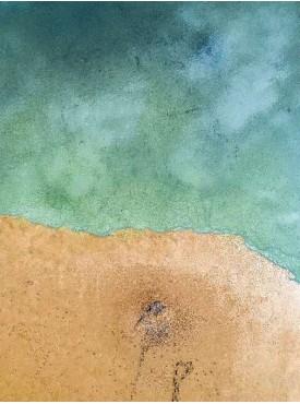 """Фотофон двойной виниловый, Print Cake - """"Море песок"""" №012 60х80 см"""