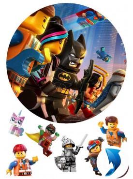 Картинка на торт «Лего муви» №002