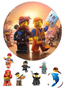 Вафельная картинка «Лего муви» №004