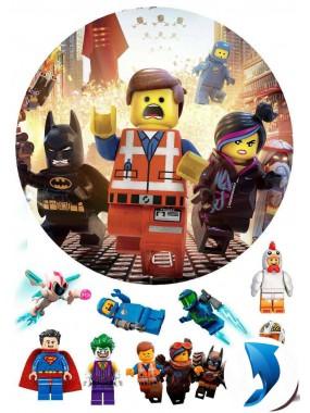 Сахарная картинка «Лего муви» №005