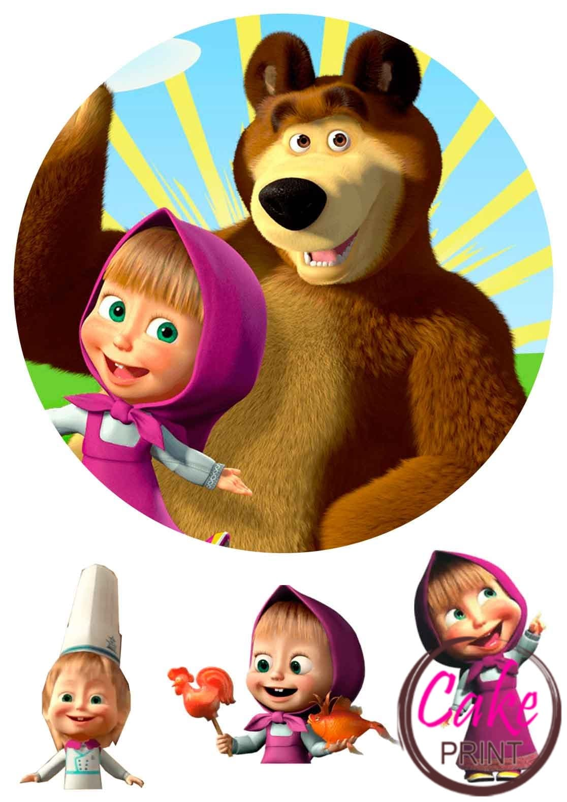 образуются маша и медведь вафельная картинка медведь пугачева черной толстовке