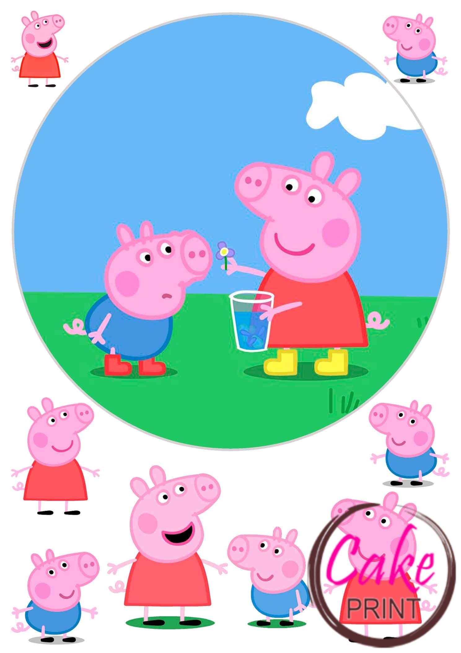 Вафельная картинка «Свинка Пеппа» №004 - на торт, мафин ...