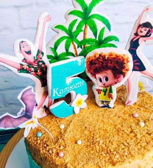 Сахарная картинка на торте-001