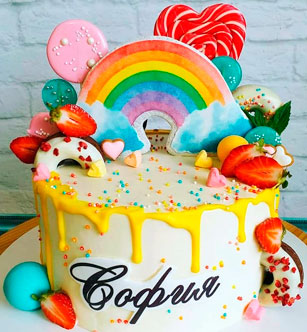 Сахарная картинка на торте-002